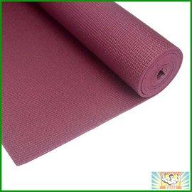 防滑瑜珈墊(酒紅)(附背袋束帶/止滑瑜伽墊/網狀夾層/台灣製造/61cm*173cm*6mm)