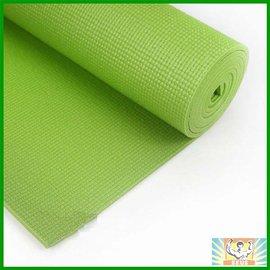 防滑瑜珈墊(芥末綠)(附背袋束帶/止滑瑜伽墊/網狀夾層/台灣製造/61cm*173cm*6mm)