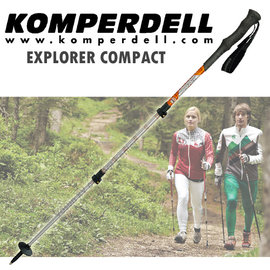 ~KOMPERDELL奧地利~EXPLORER COMPACT 強力鎖定泡棉握把登山杖 僅