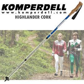 ~KOMPERDELL奧地利~HIGHLANDER CORK 鋁合金軟木短握把登山杖^(僅