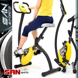 【SAN SPORTS 山司伯特】K-BIKE飛輪式磁控健身車C082-920 (室內折疊腳踏車.摺疊美腿機.運動健身器材.推薦哪裡買)