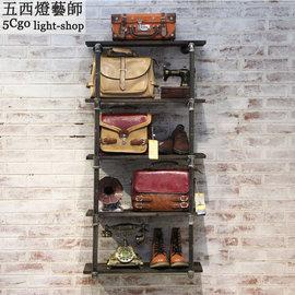 5Cgo ~ 七天交貨~40367254029 服裝店貨架展示架復古 懷舊層板展示櫃貨櫃包