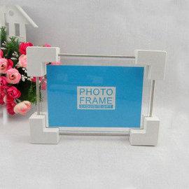 家飾 簡約長方型立體彈簧相框 像框相架 7寸玻璃相框