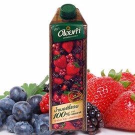 不加一滴水 100^%原汁原味 ~皇家農場~100^%鮮果汁~綜合莓果汁^(1000mlx