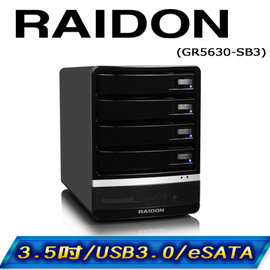 RAIDON GR5630~SB3 3.5吋 USB3.0 eSATA 4bay 3.5吋