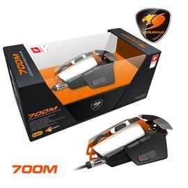 榮獲2014 iF 產品 獎 ~ COUGAR 700M 全鋁變型金剛電競滑鼠~銀橘款