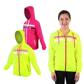 NEW BALANCE 女薄外套(台灣製 慢跑 路跑 連帽外套 一體收納【03330513】≡排汗專家≡