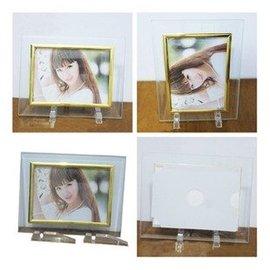 5寸7寸10寸透明水晶 玻璃相框 簡約像框 影樓相框相架 塑料支 5入