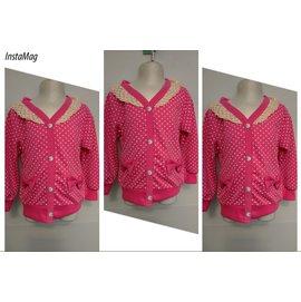 ο°~οMay collection小館~ο°~ 粉紅浪漫開襟點點棉質上衣~5 ~ 15號