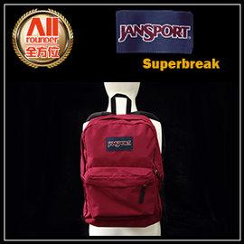 ~Jansport~~全方位 戶外館~Superbreak 校園背包~聖誕紅^(43501