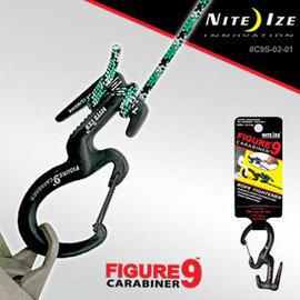 【美國 NITE IZE】C9 Carabiner 9形登山扣(小) .小號鋁合金彈簧掛鉤.繩扣.綁繩/承重22.5kg.登山 露營 自助旅行 /C9S-02-01