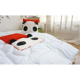~韓單~方型可愛熊貓、大象、熊熊、草莓立體 二用靠背或小棉被
