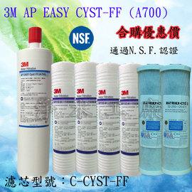 7支裝《隔日配~免運費》3M AP110 PP + KX CTO + 美國3M Filtrete A700 AP EASY CYST-FF濾心C-CYST-FF