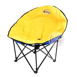 探險家戶外用品㊣C-012速可搭 月亮椅(藍/黃)附袋 休閒椅 露營椅 折疊椅 戶外躺椅 樂活椅