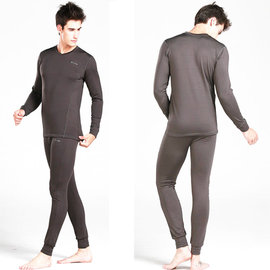 PUSH!機能面料POLARTEC+萊卡完美比例頂級運動保暖長袖內衣褲衛生衣褲V領(套裝)