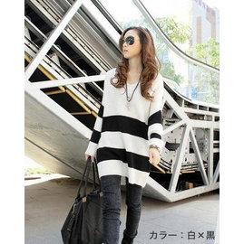日本进口 Border毛衣 大人气商品 特选优惠 (白×黑色)
