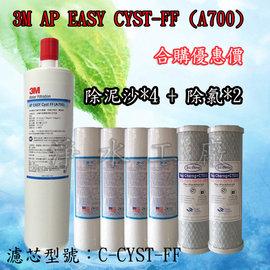 《隔日配~免運費》《贈餘氯水質測試液》《6支裝》 美國3M Filtrete A700 AP EASY CYST-FF濾心C-CYST-FF