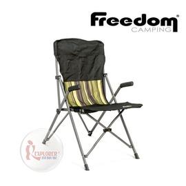 探險家戶外用品㊣0100906-00130 紐西蘭 Freedom Camping SE 摺收扶手椅-高椅背 (窄扶手) 休閒椅 摺疊椅 折疊椅 導演椅