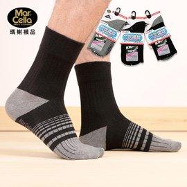 ~褲襪小姐~瑪榭竹炭纖維3 4紳士寬口襪