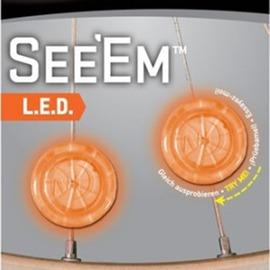 探險家戶外用品㊣NSE2-03-16 美國 NITE IZE LED線夾燈(琥珀)一組兩入 風火輪腳踏車燈 自行車燈