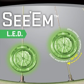 探險家戶外用品㊣NSE2-03-28 美國 NITE IZE LED線夾燈(綠)一組兩入 風火輪腳踏車燈 自行車燈