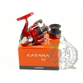 ◎百有釣具◎SHIMANO美規版 CATANA捲線器~規格:4000FC雙線盃超值款