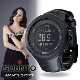 【芬蘭 SUUNTO】公司貨 新款 AMBIT3 SPORT BLACK GPS 運動款 全功能戶外運動錶/全能電腦腕錶/藍芽適三鐵.跑步.游泳.自行車_黑