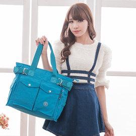 ~147 Bag Shop~ 冰山袋鼠 ~ 樂活系休閒輕巧款兩用包 ~ 清澈藍 ^(NO.