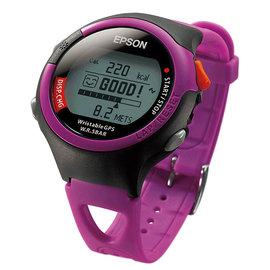 EPSON SS~301P 休閒型鐵人腕式GPS手錶(炫麗桃紅)~送隱形腰包
