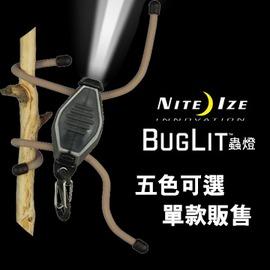 探險家戶外用品㊣BGT02-07-1701 美國 NITE IZE 蟲燈 黑身白燈 夾燈 警示燈 露營燈 自行車燈