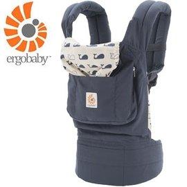 『BA02-3』【總代理公司貨】美國 Ergo Baby ergobaby Carrier 爾哥寶寶揹帶/揹巾/背巾(原創款*鯨魚)【贈KA09美國製醫療香草奶嘴3顆】