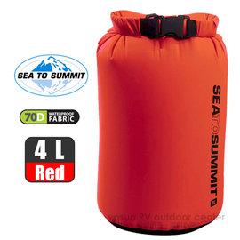 【澳洲 Sea To Summit】新款 LIGHTWEIGHT DRY SACKS 70D輕量防水收納袋 (4L)/防水內袋.打包袋.收納袋.裝備袋.打理包/ STSADS4RD 紅