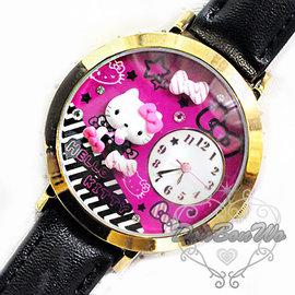 KITTY手錶手表浮雕條紋蝴蝶結776045通販部