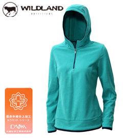 丹大戶外用品 荒野~Wildland~女款遠紅外線PILE連帽衣 彈性透氣 細緻刷毛 0A