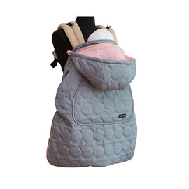【紫貝殼】『BF04-5』韓國  Pognae 秋冬多功能防風保暖袍-赫本灰【適合每款背巾】