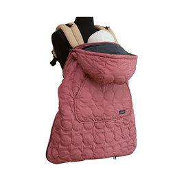 【紫貝殼】『BF04-6』韓國  Pognae 秋冬多功能防風保暖袍-蘿絲粉【適合每款背巾】