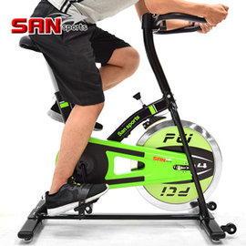 【SAN SPORTS 山司伯特】M4神采10KG飛輪健身車 C165-010(2.5倍強度.10公斤飛輪車.運動健身器材.推薦哪裡買)