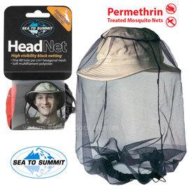 【澳洲 Sea To Summit】新款 MOSQUITO HEADNETS 驅蚊處理防蚊帽/捕蜂帽.防蜂.防蚊蟲.露營.登山/黑 STSAMOSHP