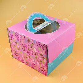 【艾佳】四入杯子蛋糕盒-美國聖誕(含內襯)/個