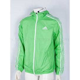 Adidas~休閒 防風 防潑水 連帽 運動 風衣 外套 -綠 (F89398)
