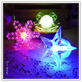 【winshop】A2258 七彩LED聖誕造型燈/雪花LED燈/水晶耶誕燈/LED小夜燈/裝飾燈/聖誕佈置