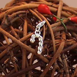 ~ SilverFly銀火蟲銀飾 ~隨意扣 節慶 ~聖誕節 冰雪奇緣系列~小拐杖~純銀單墜