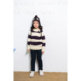 babyking 4204麻花條紋毛衣85cm~140cm