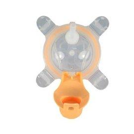 【紫貝殼】『MOEK07-3』美國 Kangovou小袋鼠兩用杯替換上蓋+吸管 奶油橘