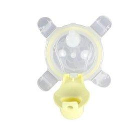【紫貝殼】『MOEK07-2』美國 Kangovou小袋鼠兩用杯替換上蓋+吸管 檸檬黃