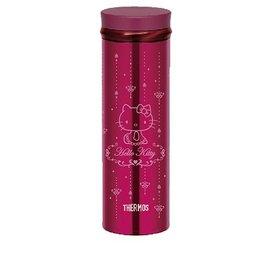 ◤40周年紀念限量款◢  THERMOS膳魔師 Hello Kitty 宮廷篇 超輕量不鏽鋼真空保溫杯 500ml JNO-500KT-BGD  (酒紅色)