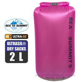 【澳洲 Sea To Summit】新款 ULTRASIL DRY SACKS 30D 輕量防水收納袋(2L)/打包袋.收納袋.裝備袋.打理包/桃紅 STSAUDS2BE