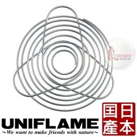 探險家戶外用品㊣664018 日本UNIFLAME 咖啡濾網架4人 (日本製) 304不鏽鋼 咖啡濾架 鏽鋼咖啡濾紙架 手沖咖啡架