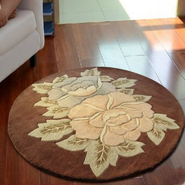 5Cgo ~ 七天交貨~21842496554 水洗純羊毛地毯 圓形客廳茶幾地毯 歐式地毯