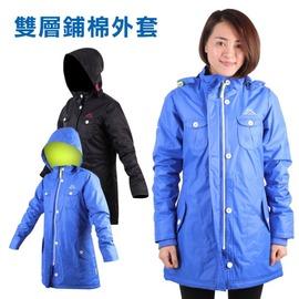 KAPPA 女雙層外套(鋪棉 保暖 防風 防潑水 風衣【03390783】≡排汗專家≡